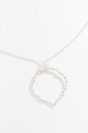 Francesca's Nakia Moroccan Pendant Necklace - Silver