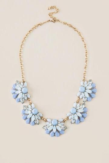 Francesca Inchess Madelyn Statement Necklace - Periwinkle