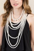 Francesca Inchess Bradshaw Statement Pearl Necklace - Pearl