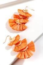 Francesca's Gina Layered Chandelier Earrings - Neon Coral