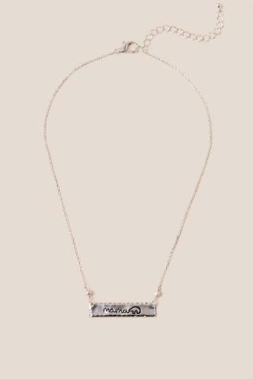 Francesca's Mama Bear Silver Pendant Necklace - Silver