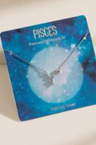 Francesca's Pisces Sterling Silver Constellation Necklace - Silver