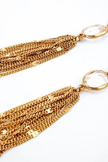 Francesca's Patricia Metal Tassel Earrings - Gold
