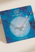 Francesca's Leo Sterling Silver Constellation Necklace - Silver
