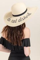 Francesca's Do Not Disturb Sun Hat - Natural