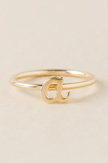 Francesca Inchess A Initial Script Ring - Gold