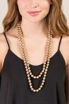 Francesca Inchess Kate Beaded Necklace - Gold