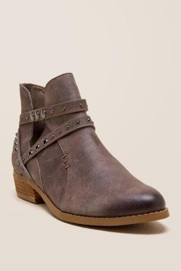 Not Rated Takayama Studded Ankle Boot - Taupe