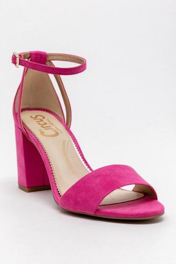 Circus By Sam Edelman Circus Olena- Ankle Strap Block Heel - Pink