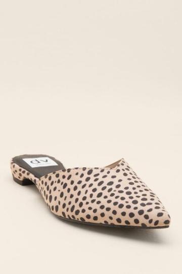 Dv By Dolce Vita Alert Pointed Toe Mule - Leopard