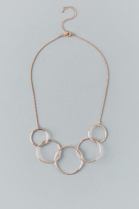 Francesca Inchess Amia Linked Rose Gold Necklace - Rose/gold