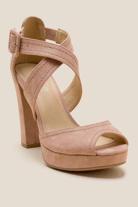 Chinese Laundry Abigail Strappy Platform Heel - Nude
