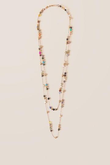 Francesca Inchess Iman Beaded Wrap Necklace - Multi