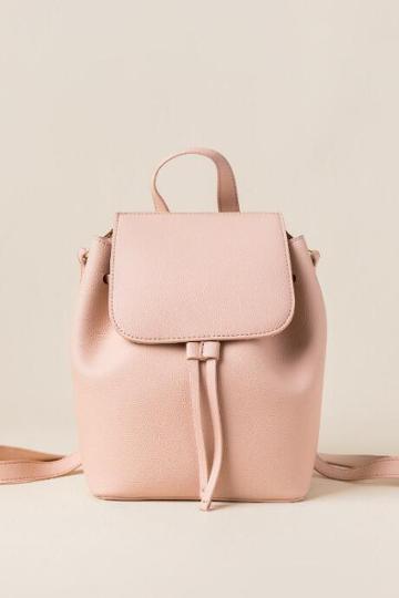 Francesca's Emilia Convertible Strap Mini Backpack - Blush