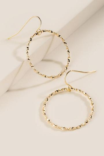 Francesca's Twisted Circle Earrings - Gold