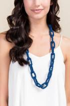 Francesca's Jordan Beaded Links Necklace - Navy