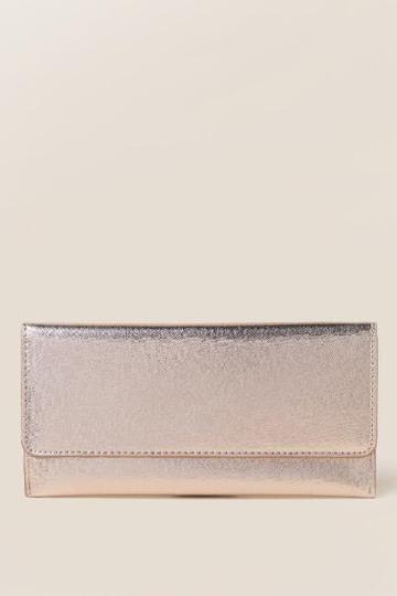Francesca's Cassidy Slim Envelope Wallet - Rose/gold
