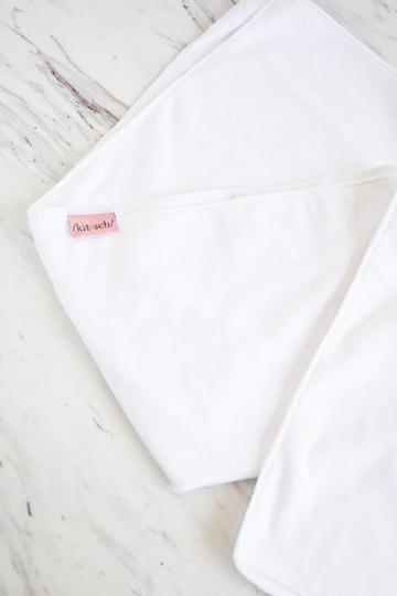 Francesca's Kitsch Microfiber Xl Hair Towel - White