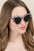 Francesca's Lonna Cat Eye Sunglasses - Tortoise