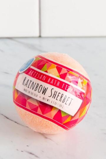 Francesca Inchess Rainbow Sherbet Bath Bomb
