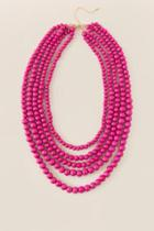 Francesca's Santana Layered Fuchsia Necklace - Fuchsia
