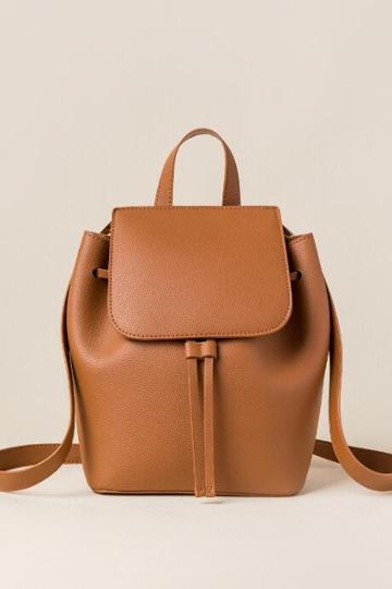 Francesca's Emilia Convertible Strap Mini Backpack - Cognac