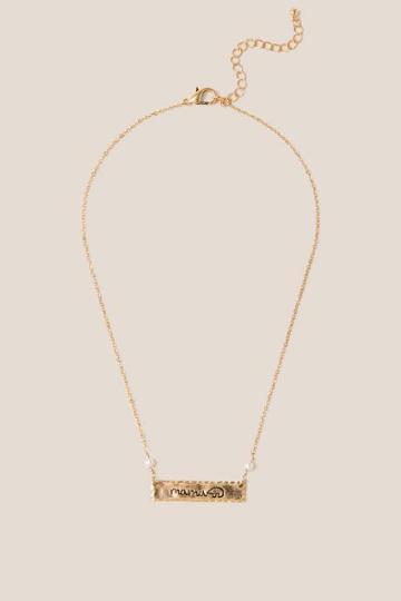 Francesca's Mama Bear Pendant Necklace - Gold