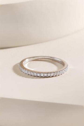 Francesca's Camille Pav Band Ring - Silver