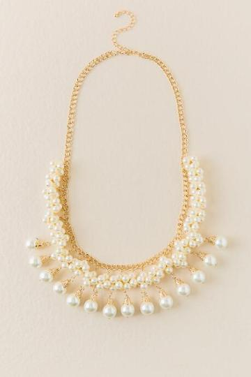 Francesca Inchess Madisyn Pearl Statement Necklace - Pearl