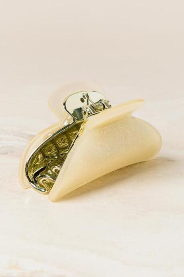 Francescas Katya Glitter Claw Clip - Rose/gold