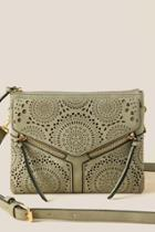 Francesca's Gabby Perforated Double Zip Crossbody - Olive