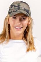 Francesca's Camo Baseball Hat - Green