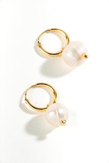 Francesca's Karen Freshwater Pearl Drop Earrings - Pearl