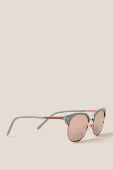 Francesca's Caicos Club Master Sunglasses - Blue