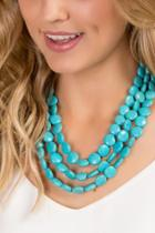 Francesca's Odessa Turquoise Strands Necklace - Turquoise