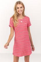 Francesca's Norine Pocket Tshirt Dress - Coral