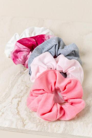 Francesca's Melodie Scrunchie Set - Pink
