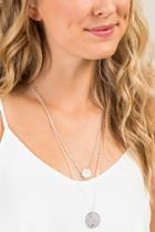 Francesca's Alicia Double Coin Necklace - Silver