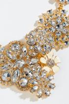 Francesca's Aniya Flower Cluster Statement Necklace - Crystal
