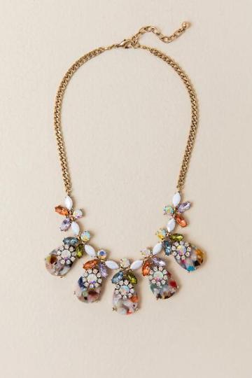 Francesca's Melissa Floral Statement Necklace - Multi