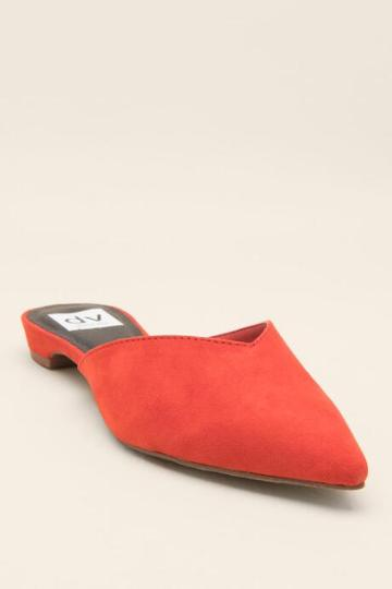 Dv By Dolce Vita Alert Pointed Toe Mule - Red