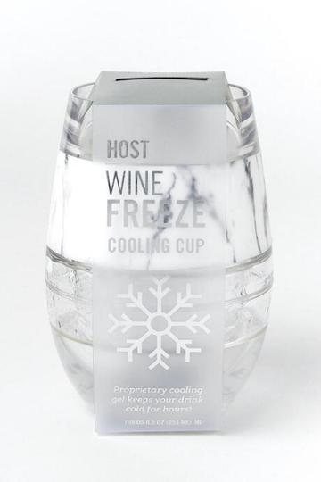 Francesca's Marble Wine Freeze Tumbler - White