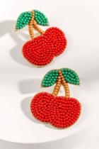Francesca's Cherry Seedbead Earrings - Red