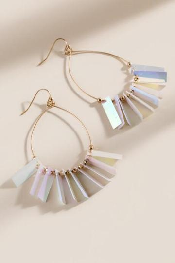 Francesca's Lydia Metal Earrings - Iridescent