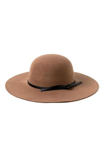 Francesca's Leslie Round Crown Floppy Hat - Camel