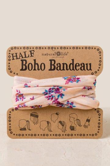 Francesca Inchess Boho Bandeau In Cream Brick Floral - Cream