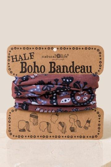 Francesca Inchess Boho Bandeau In Fall Florals - Brown