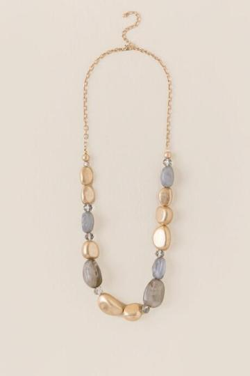 Francesca Inchess Taliyah Beaded Strand Necklace - Gray