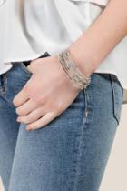 Francesca's Yoko Metal Ball Bracelet In Silver - Silver