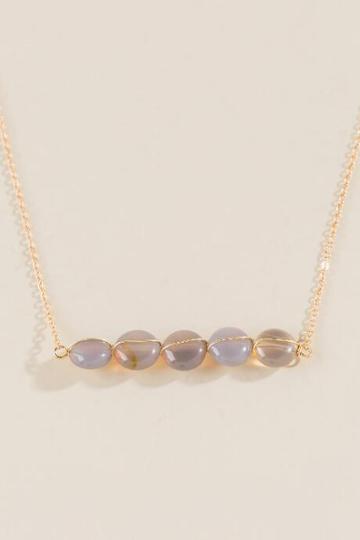 Francesca Inchess Geonna Beaded Row Necklace - Gray